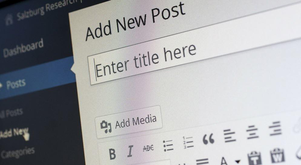 WordPress new blog entry adding title to blog post
