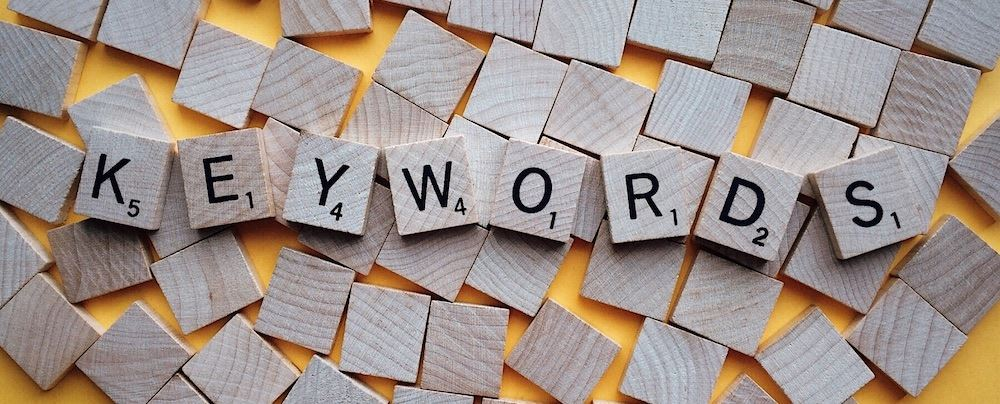 Scrabble blocks spelling keywords